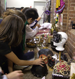 Students explore the creative departments at the Joey and Toby Tanenbaum Opera Centre. Photo: Lara Jacob &copy; 2007