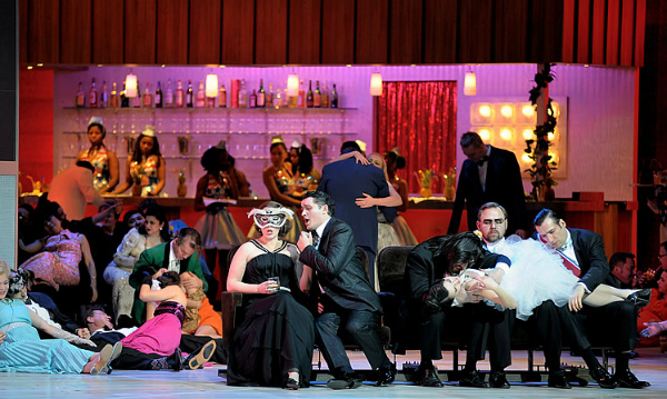 A scene from Verdi's A Masked Ball