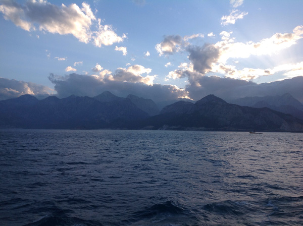View of the Mediterranean coastline in Turkey from the M.S. Europa. Photo: Iain MacNeil